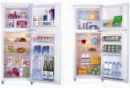 Front door display refrigerators